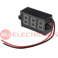 Вольтметр RUICHI 3.5-30VDC красный IP68 (24x42 мм), цифровой