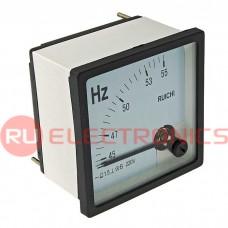Частотомер RUICHI 45-55 Гц, 220 В, 72х72 мм, вертикальный
