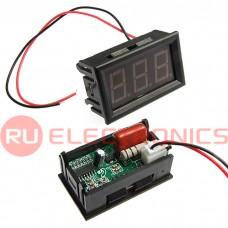 Цифровой LED вольтметр переменного тока серии YD27A RUICHI, 30-500 В, подсветка зелёная