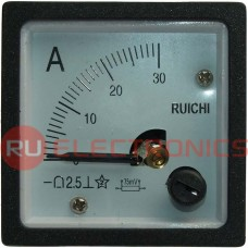 Амперметр RUICHI 30А (48х48), вертикальный