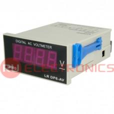 Вольтметр RUICHI DP-6 2. 20. 200. 600V AC, цифровой однофазный