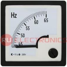 Частотомер RUICHI 45-65 Гц, 220 В, 48х48 мм, вертикальный