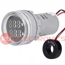 Цифровой LED вольтамперметр переменного тока RUICHI DMS-231