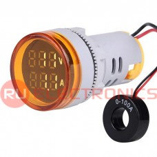 Цифровой LED вольтамперметр переменного тока RUICHI DMS-232