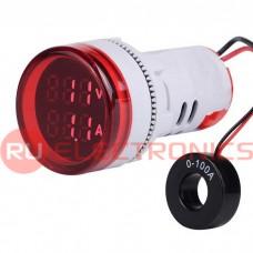 Цифровой LED вольтамперметр переменного тока RUICHI DMS-235