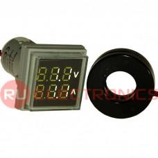 Цифровой LED вольтметр переменного тока RUICHI DMS-201