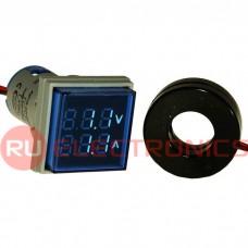 Цифровой LED вольтметр переменного тока RUICHI DMS-204
