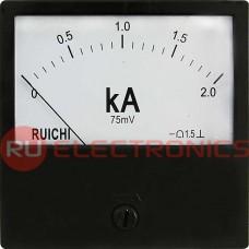 Амперметр RUICHI М42300 2КА (Аналог), щитовой