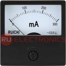 Амперметр RUICHI М42301 300мА (Аналог), щитовой