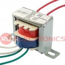 Трансформатор 50гц RUICHI EI28*15 220v to 2x12v 1W, крепление на 2 винта