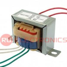 Трансформатор 50гц RUICHI EI41*17 220v to 2x12v 3W, крепление на 2 винта