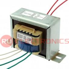 Трансформатор 50гц RUICHI EI57*25 220v to 2x12v 15W, крепление на 2 винта