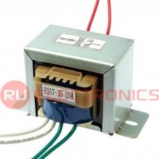 Трансформатор 50гц RUICHI EI57*35 220v to 2x12v 25W, крепление на 2 винта