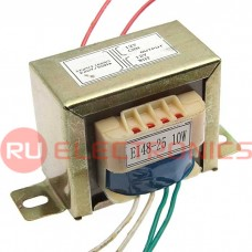 Трансформатор 50гц RUICHI EI48*25 220v to 2x12v 10W, крепление на 2 винта