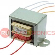 Трансформатор 50гц RUICHI EI48*28 220v to 2x12v 12W, крепление на 2 винта