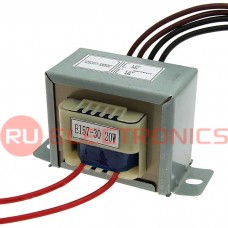 Трансформатор 50гц RUICHI EI57*30 220v to 2x12v 20W, крепление на 2 винта