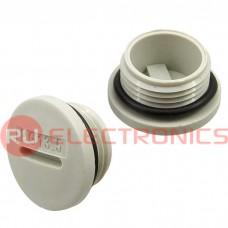 Заглушка для кабельного ввода RUICHI PG13.5, пластиковая, серая