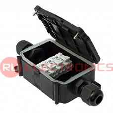 Коробка распределительная RUICHI BOX-2 IP65 2pin PC924P 10A/450V, пластик