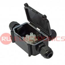 Коробка распределительная RUICHI BOX-3 IP65 3pin CA10 10A/450V, пластик