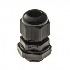 Кабельный ввод RUICHI PG 7 (IP 54) Черный, полиамид