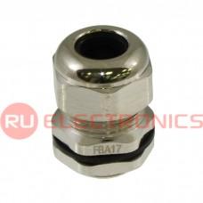 Кабельный ввод ZTM-ELECTRO FBA17-10, никелированная латунь