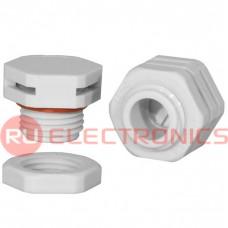 Клапан выравнивания давления RUICHI M16X1.5, PA66, платик, белый