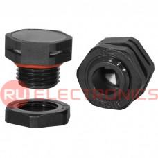 Клапан выравнивания давления RUICHI M16X1.5, PA66, платик, чёрный