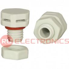 Клапан выравнивания давления RUICHI M10X1.5, PA66, платик, белый