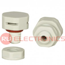 Клапан выравнивания давления RUICHI M8X1.25, PA66, платик, белый
