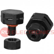 Клапан выравнивания давления RUICHI M5X0.8, PA66, чёрный