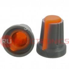 Ручка приборная RUICHI RR4817 (6 мм круг оранж.)