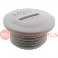 Заглушка для кабельного ввода RUICHI MG-20, пластиковая, серая