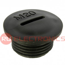 Заглушка для кабельного ввода RUICHI MG-20, пластиковая, черная