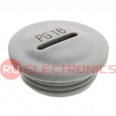 Заглушка для кабельных вводов RUICHI PG16, пластиковая, цвет серый