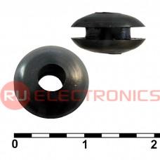 Втулка проходная RUICHI 4х10х6х5.5х1.5, резина EPDM